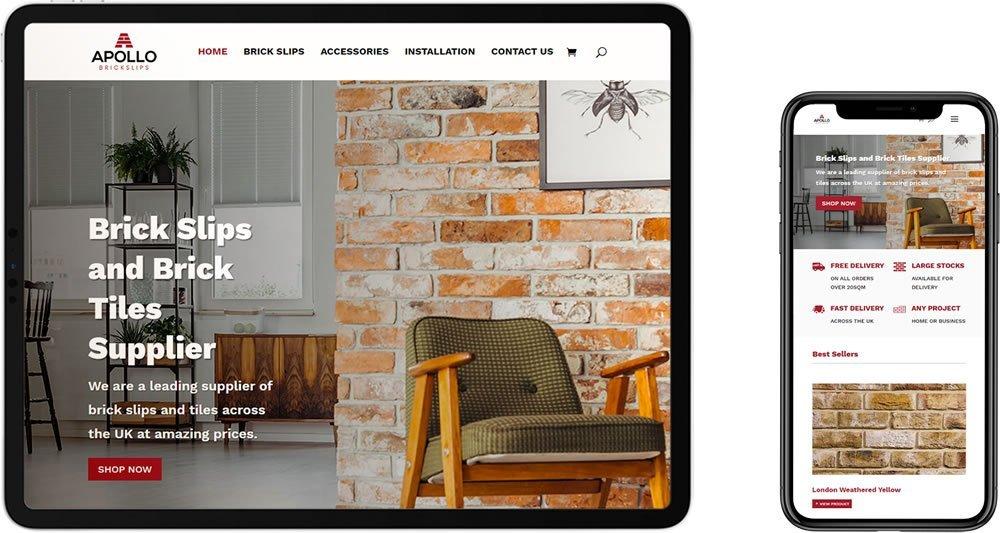 Apollo Brickslips e-Commerce Website Design Maidstone Kent