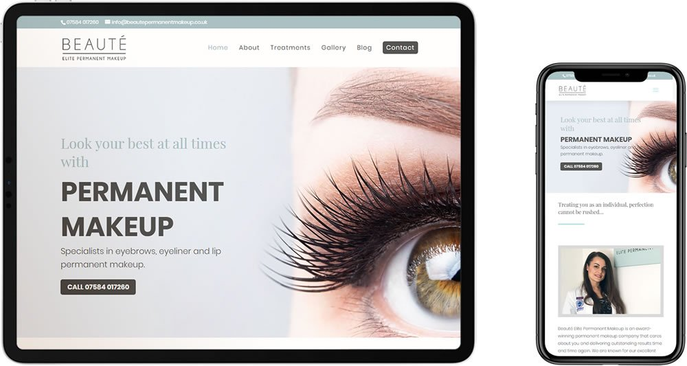 Beaute Elite Permanent Makeup Website Design Chatham Kent