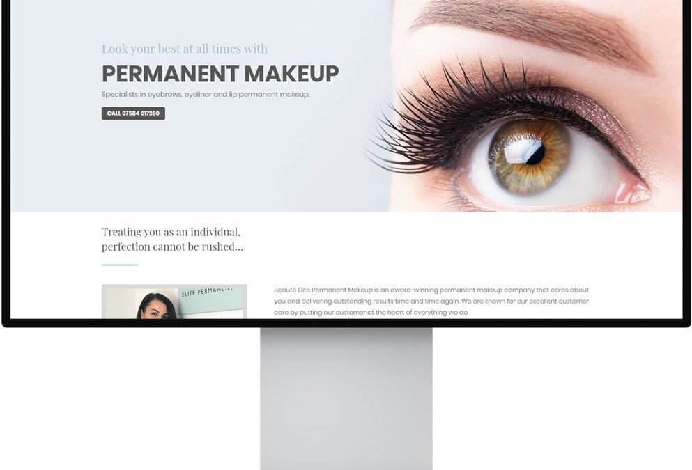 Beaute Elite Permanent Makeup Website Design