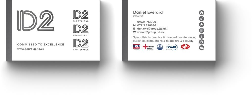 D2 Group Business Card Design Chatham Kent