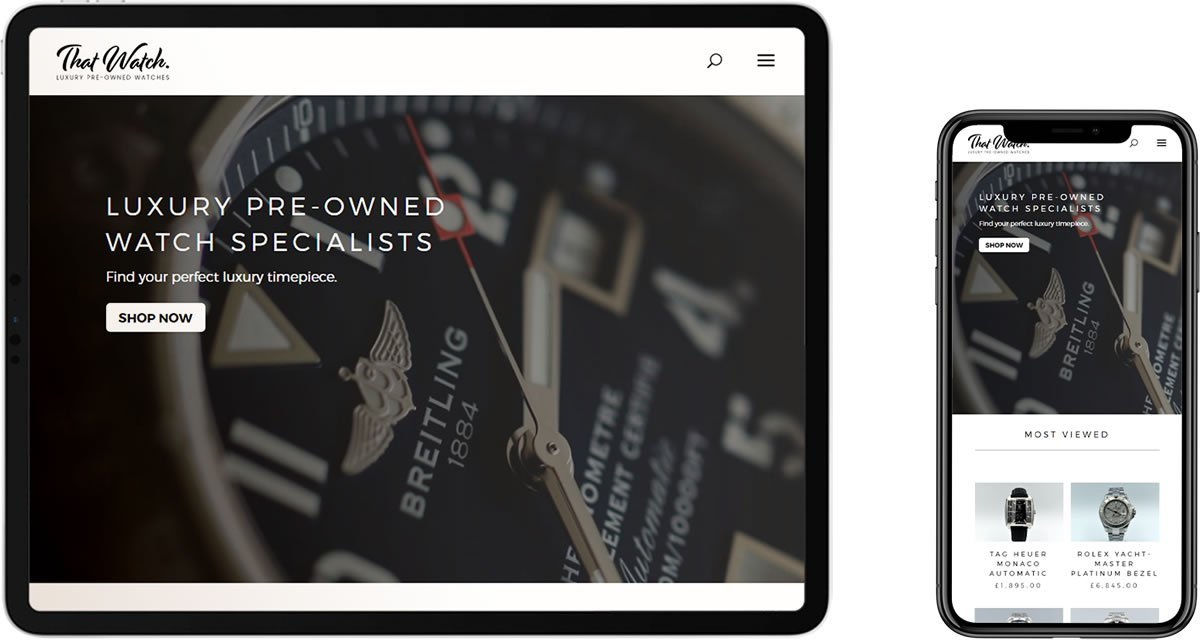 That Watch e-Commerce Website Design Maidstone Kent